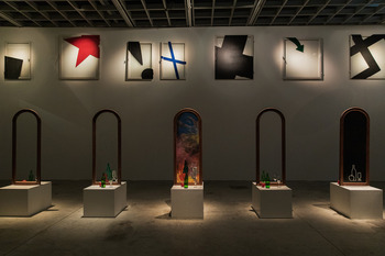 Installation by Ivan Chuikov at the OVCHARENKO Gallery